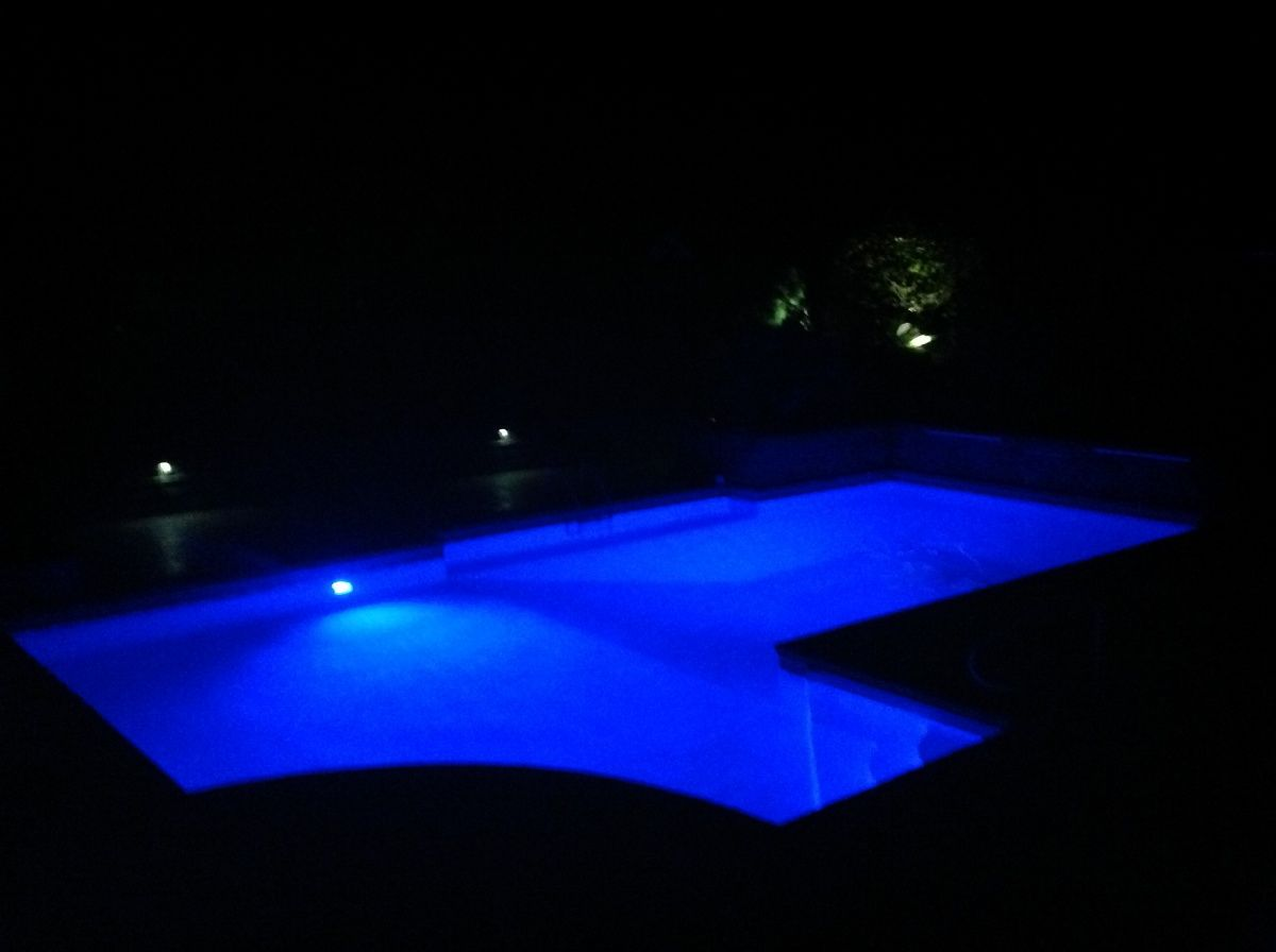 Swimming pool with lights