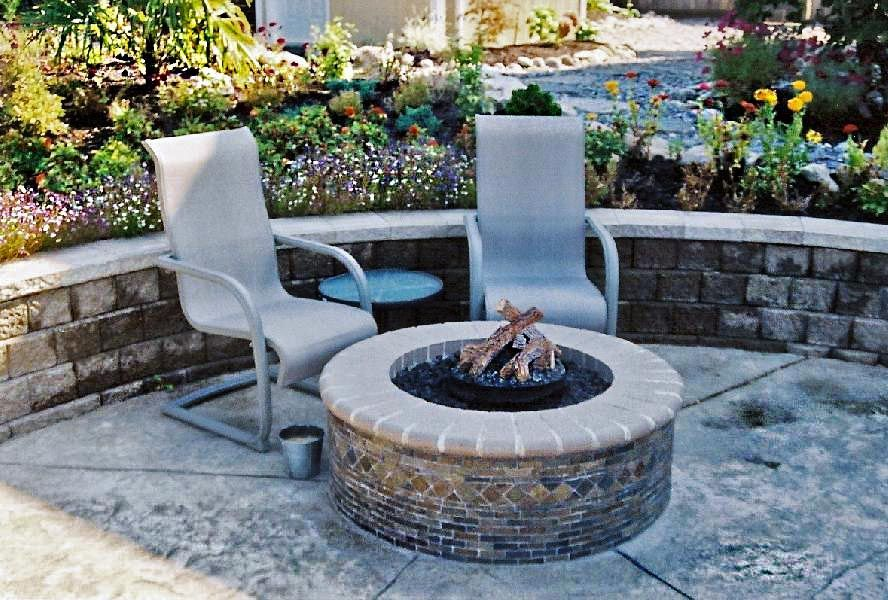 outdoor round fireplace