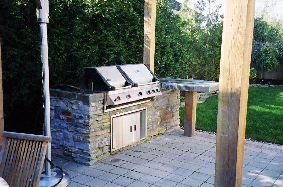 bbq machine installed in a patio